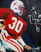 Jon Baldwin  Art - Nebraska Football Mike Rozier
