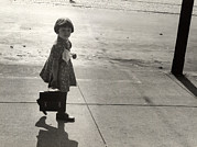 Candid Portraits Prints - Nebraska, Girl Carrying Her Fathers Print by Everett