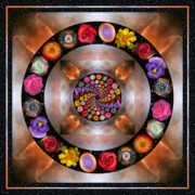 Mandalas Framed Prints - Nebulosity Framed Print by Bell And Todd