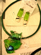 Jewelry Glass Art - Necklace and Earrings by Arlene Risi Streich