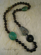 Smokey Quartz Jewelry - Necklace by Sara Young