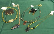 Stained Jewelry - Necklaces and Earring by Carolyn Kelly