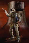Kelly Painting Originals - Ned Kelly by Chris Collingwood