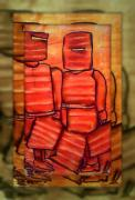 Figures Mixed Media - Ned Kelly Gang ART - Sunset Killers by Joan Kamaru