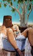 Matthew Lake Paintings - Ned Kelly by Matthew Lake