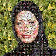 Mosaic Digital Art Prints - Neda Agha-Soltan Print by Gilberto Viciedo
