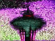 Puddle Digital Art Metal Prints - Needle in a Raindrop Stack 3 Metal Print by Tim Allen