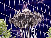 Seattle Tapestries Textiles Acrylic Prints - Needle Reflection Acrylic Print by Tim Allen