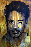 Ironman Mixed Media - Needles Chill Robert Downey Jr.  by Brad Jensen