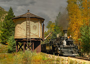 Steam Train Prints Art - Needleton Water Tank by Ken Smith