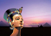 Egyptian Digital Art Prints - Nefertiti Print by Debbie McIntyre