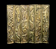 Mixed Media Reliefs Originals - Nefertiti Screen by John Casper