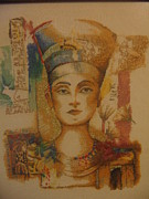 Picture Tapestries - Textiles Originals - Nefertiti by Veselina Simeonova