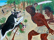 Nicole Jean-louis Paintings - Neg Mawon Haiti 1791 by Nicole Jean-Louis