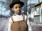 Overalls Posters - Negro Boy Near Cincinnati, Ohio Poster by Everett