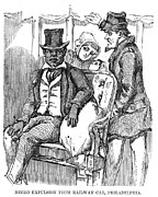 Racism Prints - Negro Expulsion From Railway Car Print by Everett