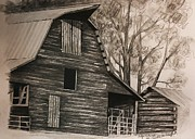 Neighborhood Barn Print by Carolyn Valcourt