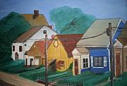 Yards Painting Framed Prints - Neighbors Framed Print by Barbara Hayes