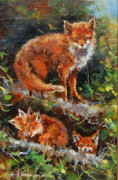 Vixen Paintings - Neighbourhood Watch by Jacinta Crowley-Long