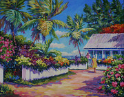 Trinidad Paintings - Neighbours 11x14 by John Clark