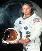 Neil Armstrong Moon Prints - Neil Armstrong, Apollo 11 Mission Print by Everett