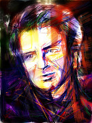 Musician Mixed Media Prints - Neil Finn Print by Russell Pierce