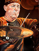 Musician Paintings - Neil Peart by Merv Scoble