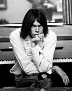Neil Young Prints - Neil Young 1970 Print by Chris Walter