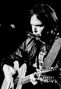 Neil Young Metal Prints - Neil Young 1986 #2 Metal Print by Chris Walter