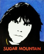 Neil Young Drawings Framed Prints - Neil Young Sugar Mountain Framed Print by Kenneth Regan
