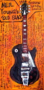 Neil Young Painting Originals - Neil Youngs Old Black by Karl Haglund
