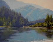 Canada Paintings - Nekite River Reflections Canada  by Graham Gercken