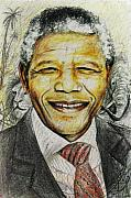 President Paintings - Nelson Mandela by Wale Adeoye