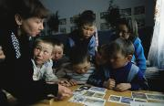 Indoors Framed Prints - Nenets Students Must Learn Russian Framed Print by Maria Stenzel