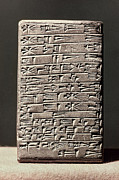 Babylonian Photos - Neo-babylonian Clay Tablet by Granger