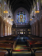 Streaming Light Prints - NEO GOTHIC NAVE at ST DOMINICS CATHEDRAL - SAN FRANCISCO Print by Daniel Hagerman