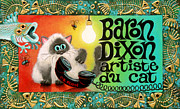 Humorous Cat Paintings - NeoCatism BizCard by Baron Dixon