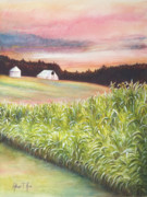 Corn Paintings - Neola Corn 2 by Arthur Fix