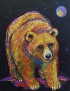 Brown Bear Paintings - Neon Bear by Carol Suzanne Niebuhr
