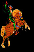 Vintage Advertising Posters - Neon Cowboy Las Vegas Poster by Garry Gay