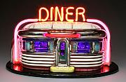 Ceramic Mixed Media - Neon Diner  by Jerry  Berta
