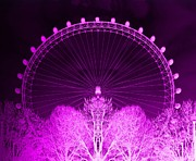 London Eye Posters - Neon Eye Poster by Sharon Lisa Clarke