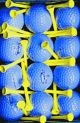 Pasttime Prints - Neon Golf - Abstract Print by Steve Ohlsen