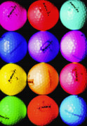 Pasttime Prints - Neon Golf 2 - Abstract Print by Steve Ohlsen