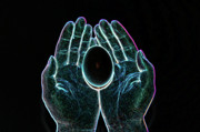 Neon Colors Digital Art - Neon Hands by Betty LaRue