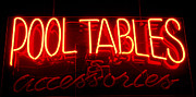Arts And Crafts Framed Prints - Neon Pool Hall  Framed Print by Steven Milner