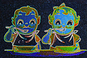 Photoshop And Lightroom Manipulations - Neon Soup Kids by Mitch Shindelbower