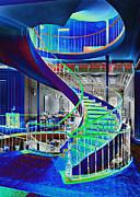 Neon Spiral Print by Kantilal Patel