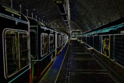 Underground Digital Art - Neon Subway by Charles Dobbs
