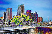 Cityscapes Digital Art - Neon Tampa by Carol Groenen